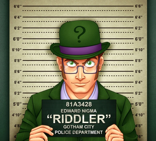 Image result for the riddler in jail
